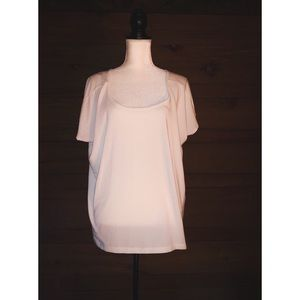 ATHLETA White Short Sleeve Tee Shirt Size XL